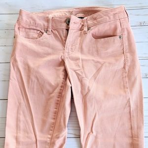 American Eagle Outfitters Pants - American Eagle Pink Blush Skinny Jeans Size 2